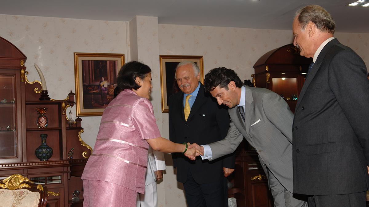 Con SAR la Principessa Maha Chakri Sirindhorn